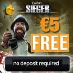 Casino Sieger €5 FREE no deposit bonus on registration