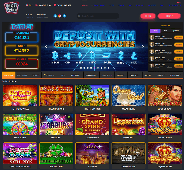 Rich Prize Online Casino Review