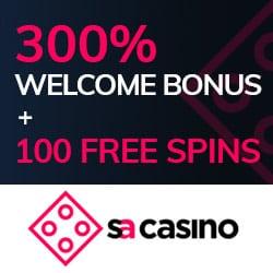 300% free bonus and 100 gratis spins