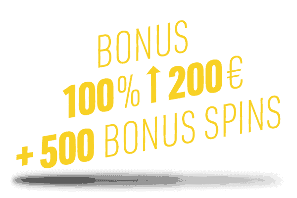 100% up to 200 EUR + 500 Extra Spins + 20% Cashback