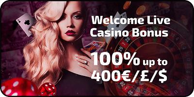 100% up to 400 EUR free bonus