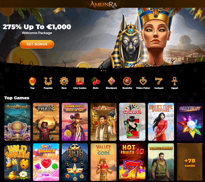 Join AmunRa Casino Now