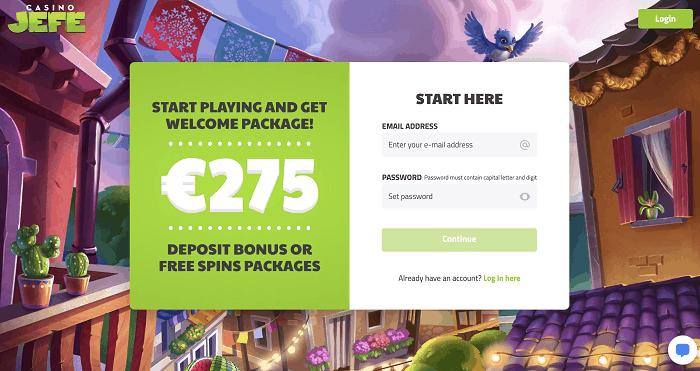 JEFE welcome bonus