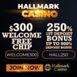 Hallmark Casino $300 exclusive free chip bonus without deposit