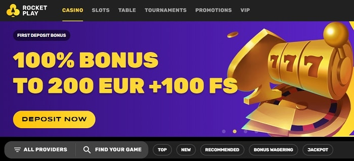 100% bonus on first deposit